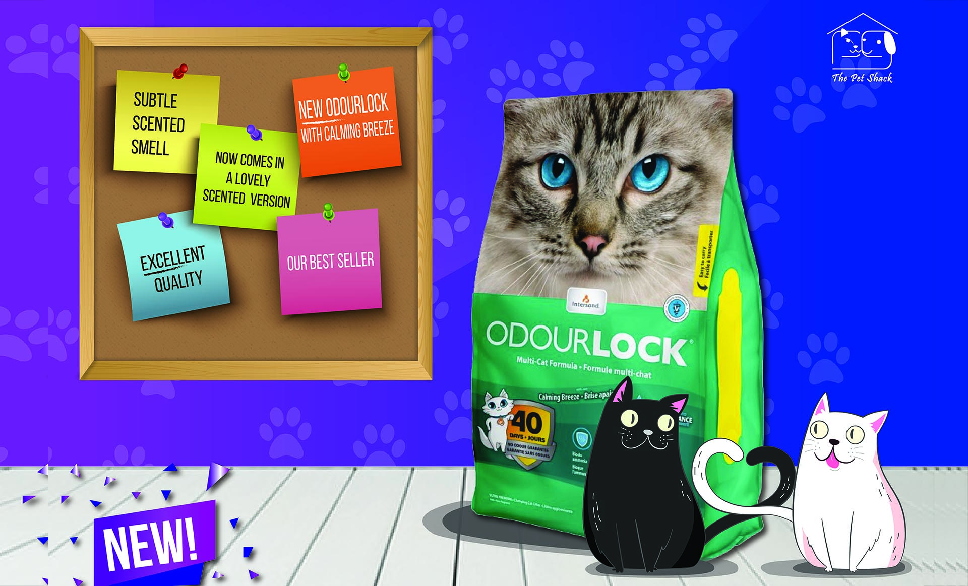 Odourlock products at PetShack